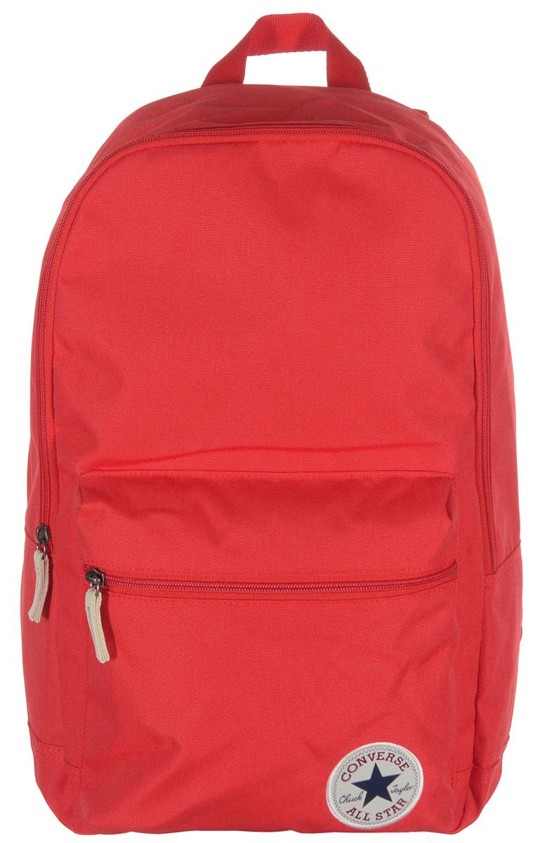 Рюкзак городской Converse Core Poly Backpack, цвет: красный. 13650C00813650C008Практичный городской рюкзак Converse Core Poly Backpack выполнен из прочного полиэстера и оформлен нашивкой с символикой бренда. Рюкзак содержит одно вместительное отделение, закрывающееся на застежку-молнию. Внутри изделия расположен мягкий накладной карман на резинке с липучкой, предназначенный для переноски планшета или небольшого ноутбука. Лицевая сторона рюкзака дополнена объемным накладным карманом на застежке-молнии. Рюкзак оснащен петлей для подвешивания и двумя практичными лямками регулируемой длины. Стильный рюкзак станет незаменимым аксессуаром, который вместит в себя все необходимое.
