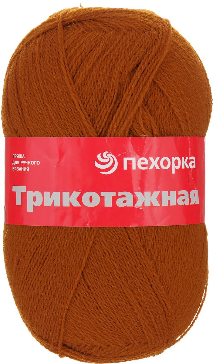 Пряжа для вязания Пехорка Трикотажная, цвет: кирпичный (284), 780 м, 100 г, 5 шт360040_284_284-кирпичныйПряжа для вязания Пехорка Трикотажная изготовлена из 100% тонкой шерсти. Пряжа в полотне ложится красивой, ровной и эффектной фактурой. Гигиенична, приятна для тела. Прекрасный вариант для вязания теплой одежды. С такой пряжей для вязания вы сможете связать своими руками необычные и красивые вещи. Рекомендуемый размер спиц: 2,5-3 мм. Состав: 100% шерсть.