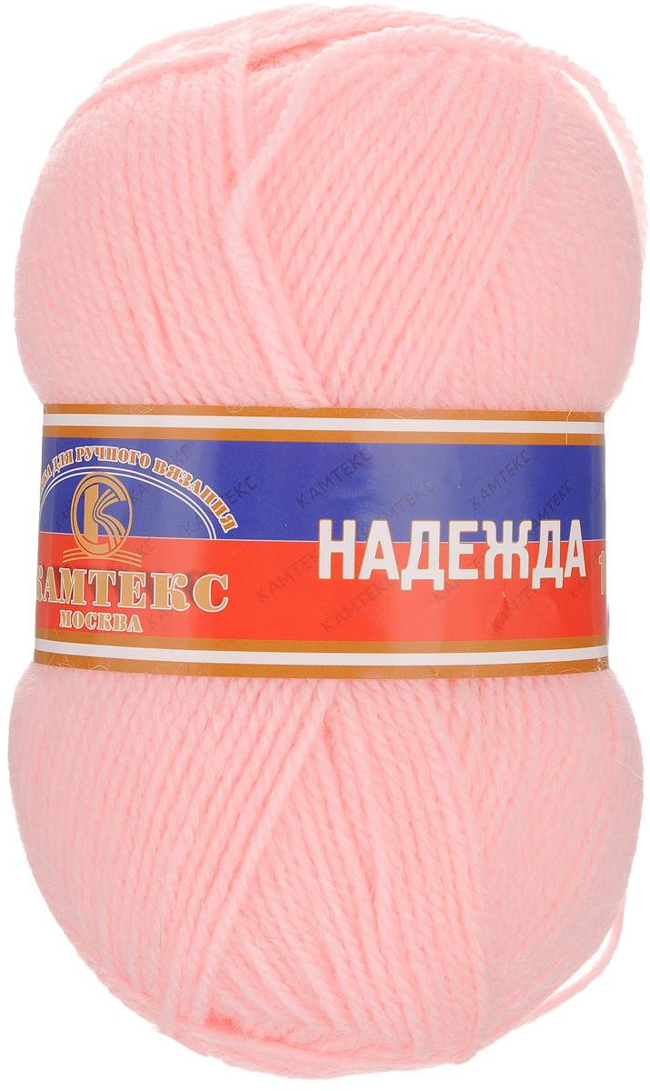 Пряжа для вязания Камтекс Надежда, цвет: светло-розовый (055), 220 м, 100 г, 10 шт485309_055Камтекс Надежда - это доступный вариант классической пряжи. Нить легка и одинаково удобна для работы как спицами, так и крючком. Изделия из данной пряжи довольно прочные, не подвержены деформации за счет достаточного количества акрила в составе, а благодаря шерсти вещи теплые, комфортные, дышащие. Добротная, качественная, средней толщины нить подойдет для вязания чулочно-носочных изделий, головных уборов, демисезонных и зимних аксессуаров. Рекомендуемый размер спиц и крючка: 3-5 мм. Состав: 30% шерсть, 70% акрил.