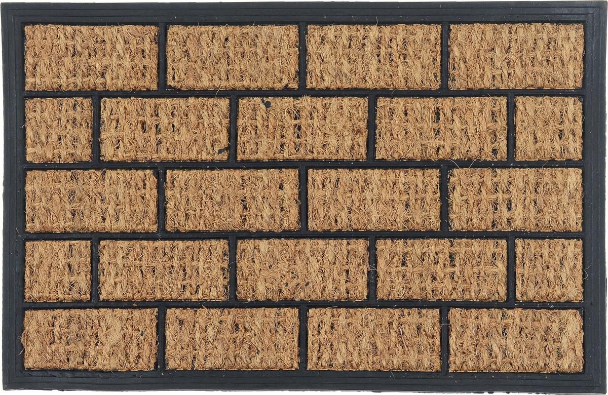 Коврик придверный SunStep Кирпичики, 60 х 40 см32-088Оригинальный придверный коврик SunStep Кирпичики надежно защитит помещение от уличной пыли и грязи. Он изготовлен из жесткого кокосового волокна и нескользящей резиновой основы. Волокна кокоса не подвержены гниению и не темнеют, поэтому коврик сохранит привлекательный внешний вид на долгое время.