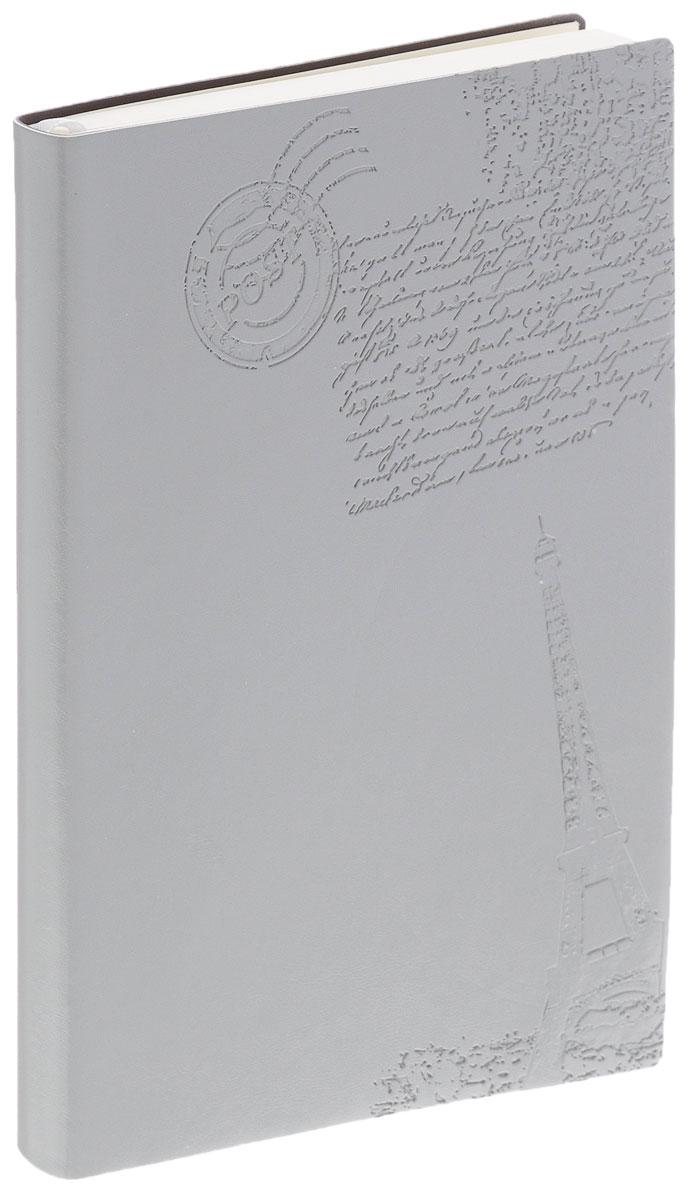 Index Ежедневник Paris недатированный 128 листов цвет серыйIDN111/A6/GRНедатированный ежедневник Index Paris - это один из удобных способов систематизации всех предстоящих событий и незаменимый помощник для каждого. Мягкая обложка выполнена из высококачественной искусственной кожи и украшена тисненым изображением Эйфелевой башни. Внутренний блок на 256 страниц выполнен из состаренной офсетной бумаги. Ежедневник содержит страницу для заполнения личных данных, календарь с 2016 по 2017 год, телефонно-адресную книгу, а также ляссе для быстрого поиска нужной страницы. Все планы и записи всегда будут у вас перед глазами, что позволит легко ориентироваться в графике дел, событий и встреч.