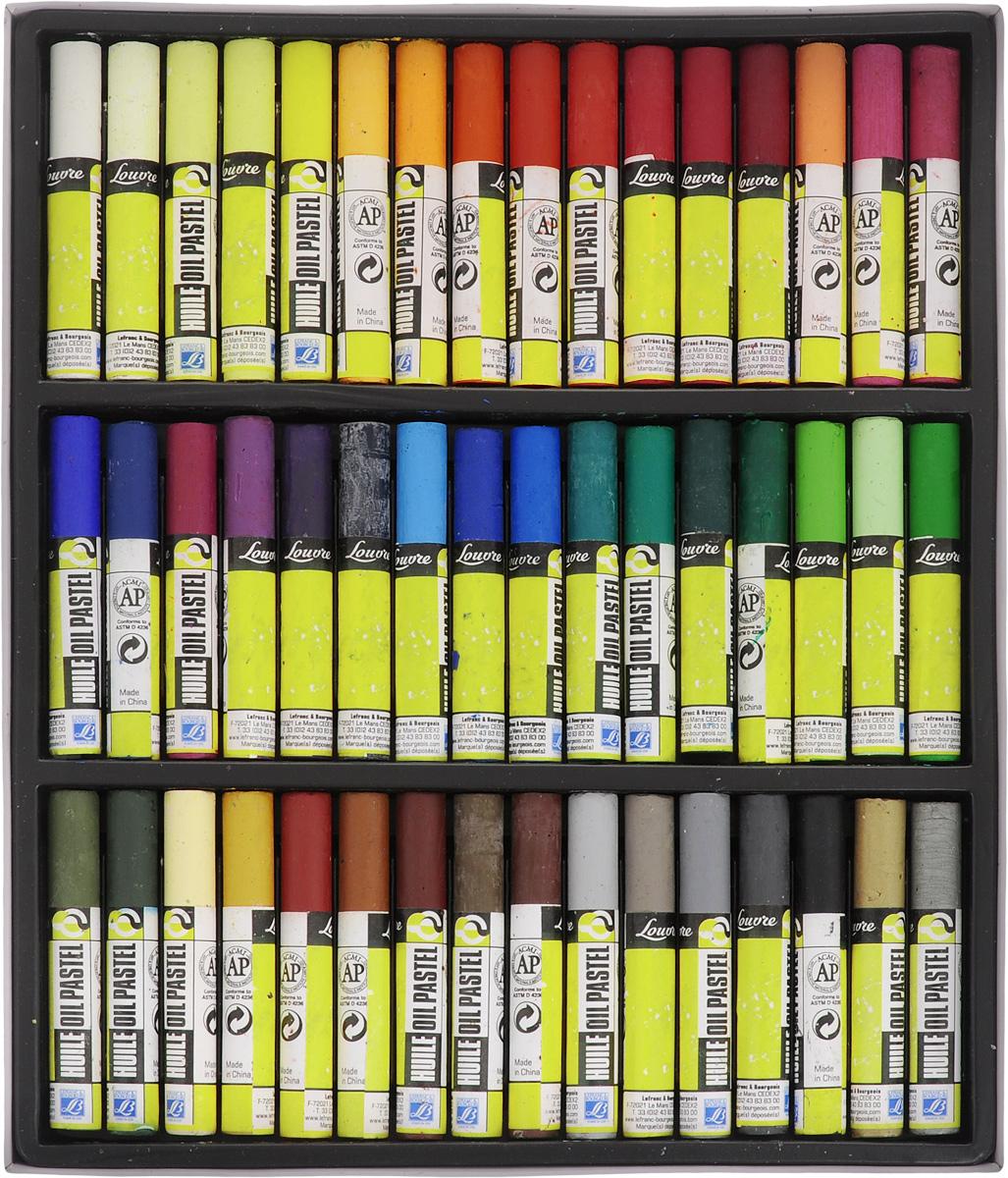 Набор масляной пастели Lefranc & Bourgeois Louvre, 48 штLF806345Набор Lefranc & Bourgeois Louvre состоит из 48 мелков масляной пастели разных цветов. Пастель мерцающая и мягкая. Каждый мелок защищен оболочкой, что создает дополнительные удобства для использования. Пастель может применяться разными способами: - для создания эффекта прозрачности ее используют с уайт-спиритом, - для получения пастозного эффекта кончик мелка нагревают и в размягченном виде наносят на бумагу при помощи мастихина. Длина мелка: 7 см. Комплектация: 48 шт.
