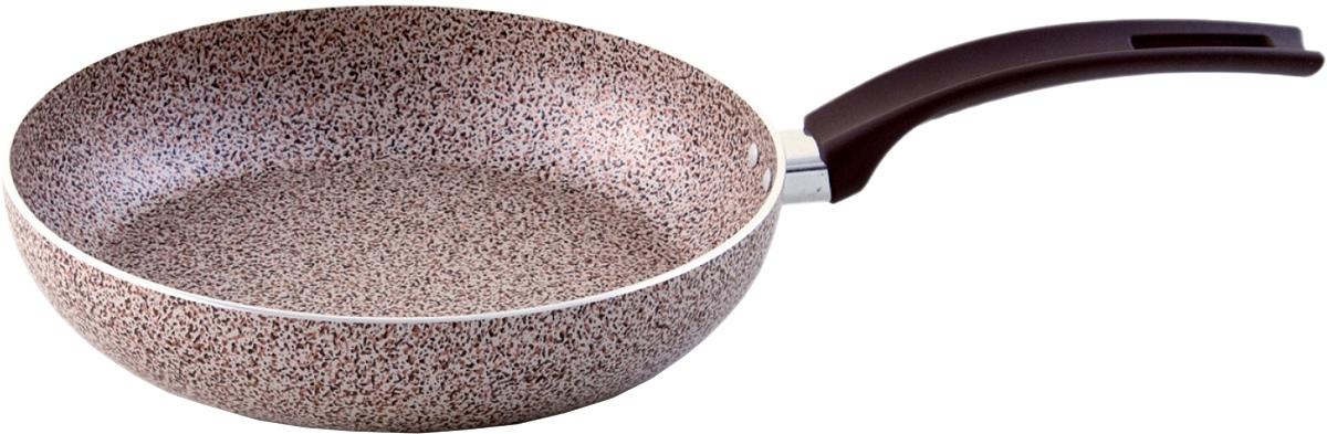 Сковорода Vari, с крышкой. Диаметр 22 см. MR17122/11MR17122/11Minerale - штампованная посуда с современным антипригарным покрытием, в каменном дизайне. Корпус толщиной до 2,8 мм обеспечивает быстрый равномерный нагрев, а современное долговечное антипригарное покрытие повышенной прочности сделает приготовление пищи комфортным и безопасным. Удобная и изящная итальянская ручка эффектом So-Touch из последней коллекции. Сочетание привлекательного внешнего вида и отличных антипригарных свойств делает посуду линии Minerale прекрасной альтернативой дорогой «каменной» посуде, но по доступной для многих цене. Линия Minerale рассчитана на потребителей, следящих за модой и ценящих в посуде надежность, качество и безопасность.