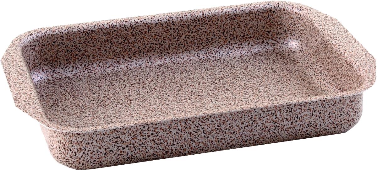 Противень Vari, 23 х 30 см. MR21300MR21300Minerale - штампованная посуда с современным антипригарным покрытием, в каменном дизайне. Корпус толщиной до 2,8 мм обеспечивает быстрый равномерный нагрев, а современное долговечное антипригарное покрытие повышенной прочности сделает приготовление пищи комфортным и безопасным. Удобная и изящная итальянская ручка эффектом So-Touch из последней коллекции. Сочетание привлекательного внешнего вида и отличных антипригарных свойств делает посуду линии Minerale прекрасной альтернативой дорогой «каменной» посуде, но по доступной для многих цене. Линия Minerale рассчитана на потребителей, следящих за модой и ценящих в посуде надежность, качество и безопасность.