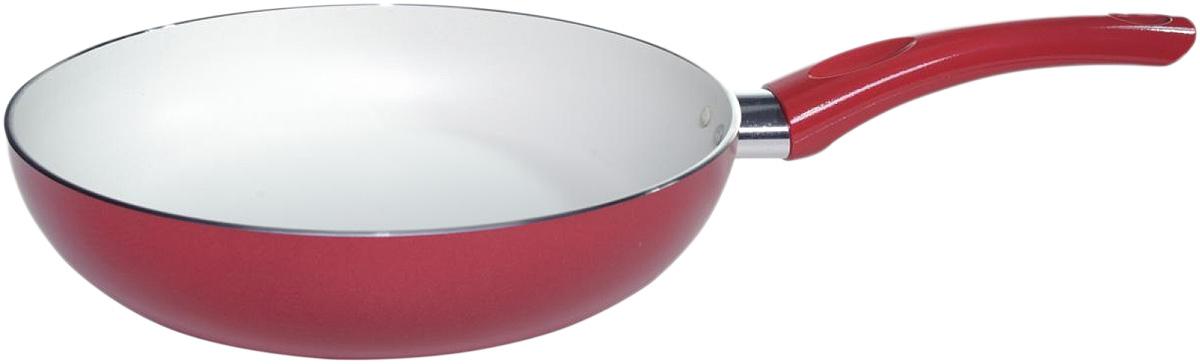 Сковорода Vari Flora, цвет: цикламен. Диаметр 24 смR17124Яркая, стильная коллекция посуды Flora, привнесет отличное настроение в порой обыденный процесс приготовления блюд. Модное внешнее покрытие обладает высокой жаропрочностью, экологически чистое, легко очищается, долго сохраняет свой цвет. Удобные ручки подобраны точно под цвет корпуса, изготовлены из прочного бакелитового сплава, который не нагревается, оберегает руки от ожогов. Внутреннее антипригарное покрытие цвета слоновой кости имеет идеально гладкую поверхность с формулой двойной защиты от пригорания. На покрытии светлого цвета гораздо легче контролировать процесс жарки любимых блюд.