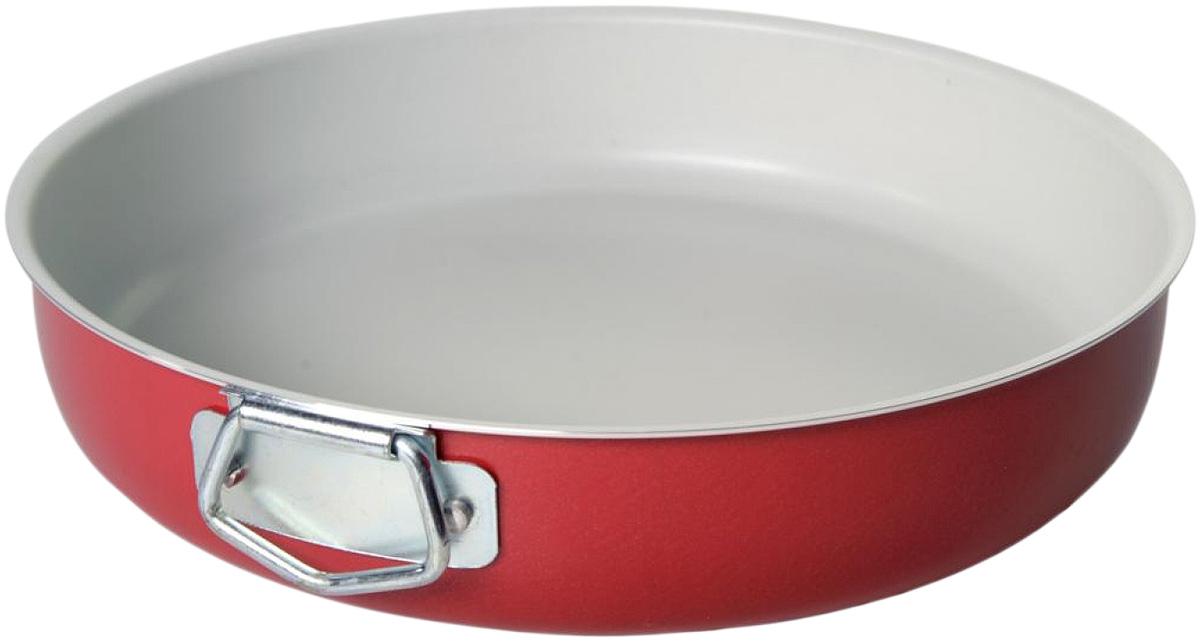 Форма для выпечки Vari Flora, цвет: цикламен. Диаметр 24 смR19324Яркая, стильная коллекция посуды Flora, привнесет отличное настроение в порой обыденный процесс приготовления блюд. Модное внешнее покрытие обладает высокой жаропрочностью, экологически чистое, легко очищается, долго сохраняет свой цвет. Удобные ручки подобраны точно под цвет корпуса, изготовлены из прочного бакелитового сплава, который не нагревается, оберегает руки от ожогов. Внутреннее антипригарное покрытие цвета слоновой кости имеет идеально гладкую поверхность с формулой двойной защиты от пригорания. На покрытии светлого цвета гораздо легче контролировать процесс жарки любимых блюд.