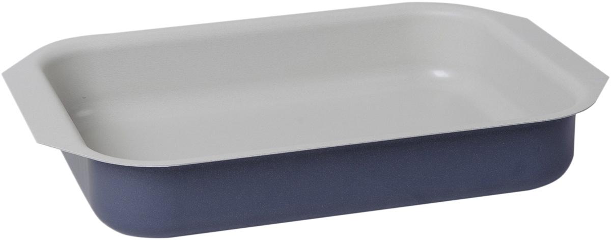 Противень Vari Flora, цвет: фиалковый, 27 х 35 смV21350Яркая, стильная коллекция посуды Flora, привнесет отличное настроение в порой обыденный процесс приготовления блюд. Модное внешнее покрытие обладает высокой жаропрочностью, экологически чистое, легко очищается, долго сохраняет свой цвет. Удобные ручки подобраны точно под цвет корпуса, изготовлены из прочного бакелитового сплава, который не нагревается, оберегает руки от ожогов. Внутреннее антипригарное покрытие цвета слоновой кости имеет идеально гладкую поверхность с формулой двойной защиты от пригорания. На покрытии светлого цвета гораздо легче контролировать процесс жарки любимых блюд.