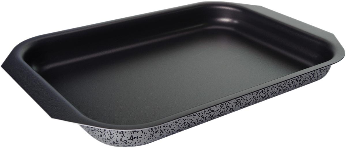 Противень Vari Scandia, цвет: мраморный, низкий, 27 х 35 смС22350Посуда Scandia – классическая штампованная алюминиевая посуда с антипригарным покрытием SKANDIA. Легкая и удобная, посуда Scandia обладает быстрым нагревом благодаря толщине стенок до 3 мм. Имеет оригинальный, броский, легко узнаваемый дизайн. Легко моется. Походит для посудомоечных машин. Не выделяет вредных веществ. Не содержит PFOA. На посуде Scandia можно готовить широкий спектр блюд — котлеты, тушеное мясо, пироги, домашнюю пиццу. И все это за минимальное время.