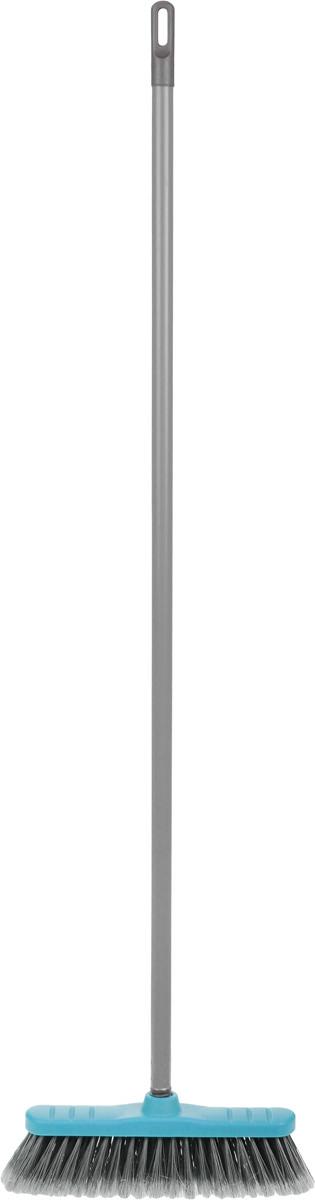 Щетка для пола Мир чистоты, с черенком, цвет: голубой, серый. SP028SP028Щетка-насадка для пола Мир чистоты, изготовленная из ПВХ (поливинилхлорид), полипропилена и полиэтилена, предназначена для уборки сухого мусора. Изделие оснащено универсальной резьбой, которая подходит ко всем видам ручек. Упругий, мягкий и длинный ворс максимально быстро без лишних усилий позволит собрать мусор из самых труднодоступных мест. Размер щетки: 27 х 58 х 10 см. Длина ворса: 6,5 см. Длина черенка: 10 см. Диаметр отверстия для черенка: 2,2 см.