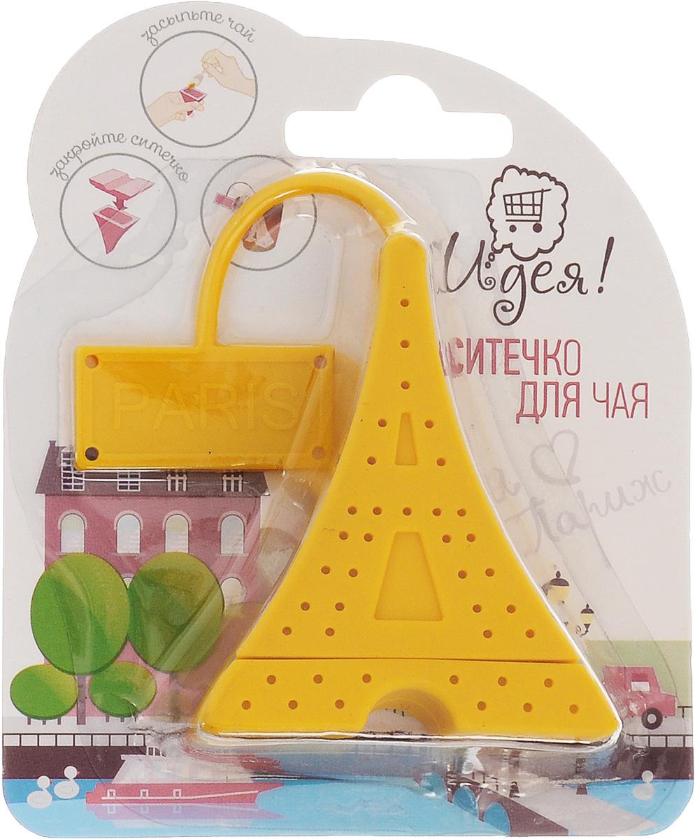 Ситечко для чая Идея Париж, цвет: желтыйPRG-01_желтСитечко Идея Париж изготовлено из силикона в виде Эйфелевой башни. Оно прекрасно подходит для заваривания любого вида чая. Оригинальная форма делает ситечко удобным и стильным аксессуаром для чаепития. Размер ситечка: 6,5 х 5,2 х 2,8 см.