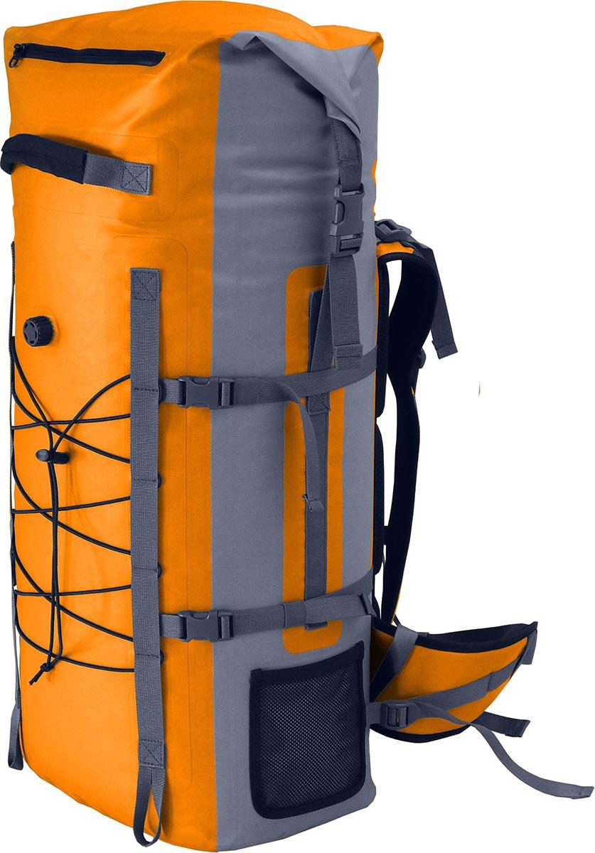 Герморюкзак Nova Tour Амфибия 60, цвет: серый, оранжевый, 60 л