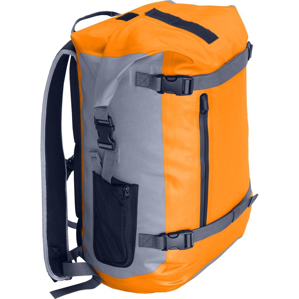 Герморюкзак NOVA TOUR Геккон 40, цвет: серый, оранжевый, 40 л95157-471-00Полностью герметичный рюкзак объемом 40 литров, с фронтальными стяжками, влагозащищенным фронтальным карманом и небольшими боковыми карманами. 100% защита от воды; Ткань 300D Polyester TPU. Грудная стяжка. Влагозащитная молния. Вес: (кг) 0,97. Объем; (л) 40. Ширина спинки: 30 см. Высота спинки: 48 см. Глубина по дну: 24 см. Максимальная высота: 56 см.
