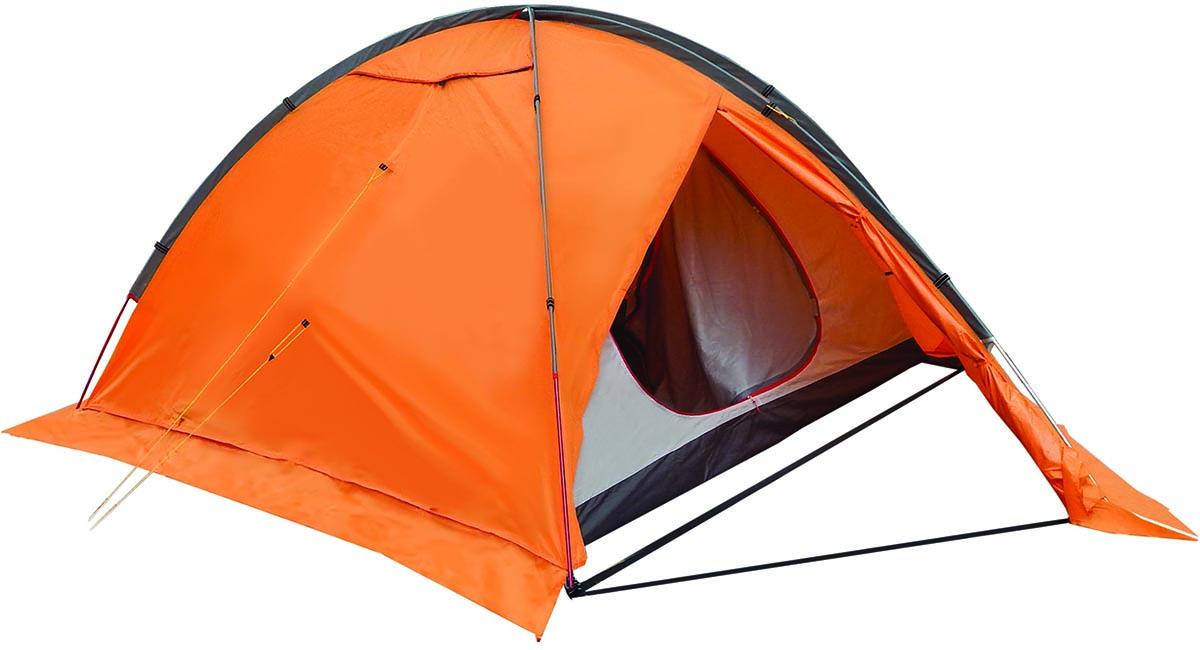 Палатка туристическая NOVA TOUR Хан-Тенгри 4, цвет: оранжевый95744-233-00Четырехместная палатка с усиленным внешним каркасом. Симетриченая конструкция позволяет равномерно натянуть тент в любую погоду. Внешние дуги позволяют отдельно устанвоить тент. За счет третьей полноценной дуги палатка обладате высокой ветроустойчивостью.; Вместимость (человек) 4 Материалы каркаса Al 7001 - T6*8,5 мм Конструкция Дуговые Ткань тента Poly Taffeta 210T R/S PU 7000 Ткань пола Poly Taffeta 210T PU 10000 Ткань палатки Poly Taffeta 210T W/R BR Проклеенные швы тента Противомоскитная сетка Ветрозащитная юбка Система вентиляции для экстремальных условий Вес макс. (кг) 4,3 Вес мин. (без колышков, чехла и оттяжек) 4 Водостойкость тента (мм/в.ст.) 7 000 Водостойкость дна (мм/в.ст.) 10 000 Габаритные размеры сумки 54 x 18 x 21