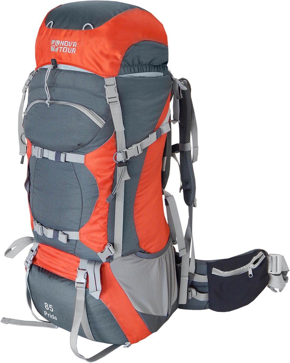 Рюкзак экспедиционный NOVA TOUR Прайд 85, цвет: серый, терракотовый, 90л95770-250-00Облегченная подвесная систем ABS2, равномерно распределяет вес на плечи и пояс, уменьшает нагрузку на позвоночник. Система навески разработана для большего удобства крепления горного снаряжения. Удобный нижний вход позволяет достать вещи со дна рюкзака. Гермочехол, расположенный в специальном кармане в дне рюкзака поможет сохранить ваши вещи сухими в дождь и снег; Плавающий клапан Подвеска ABS 2 Ткань 600D Polyester invisible ripstop Узлы крепления горного снаряжения Грудная стяжка Фурнитура Duraflex Светоотражающий кант Пояс с карманами Вес (кг) 2,3 Объем (л) 85 Высота-ширина-глубина, см 100 x 32 x 30