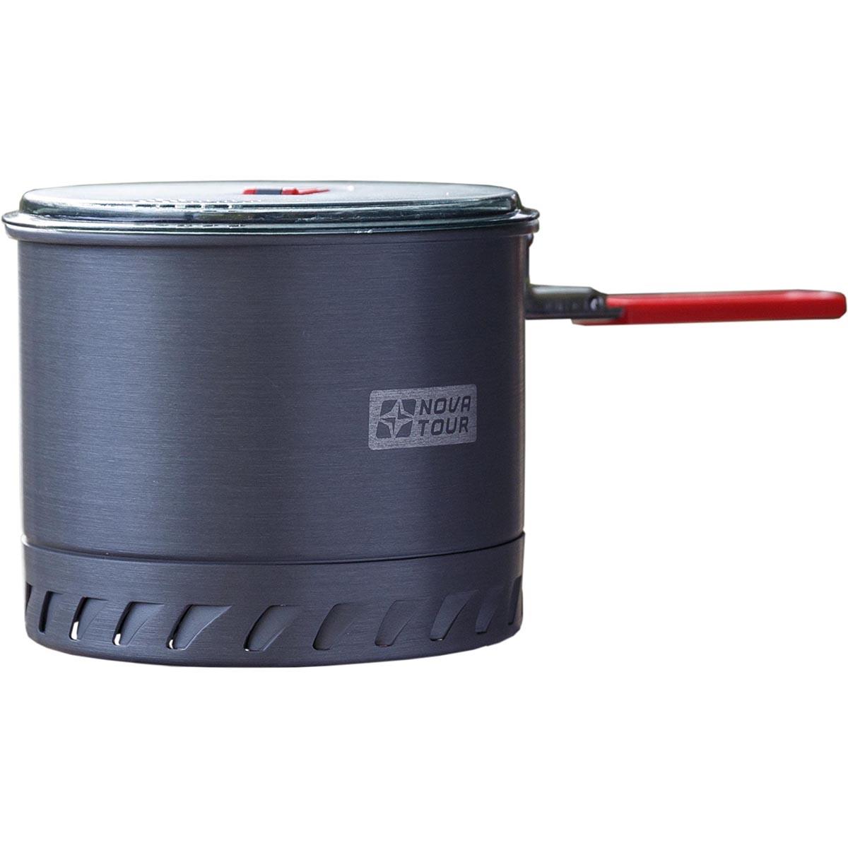 Кастрюля NOVA TOUR Инферно 1,4л, цвет: металлик, красный, 0,4л95806-000-00Удобная кастрюля объемом 1,4л с радиаторным кольцом на дне, которое позволяет экономить до 50% топлива и уменьшить время приготовления пищи. Наличие складной ручки добавляет удобства при использовании, и не увеличивает объем занимаемый кастрюлей при траспортировки. Неопреновая вставка сохраняет тепло и добавляет удобства в эксплуатации.; Назначение и устройство Посуда для горелок Материал Анодированный алюминий Вес (кг) 0,32 Вместимость (л.) 1,4