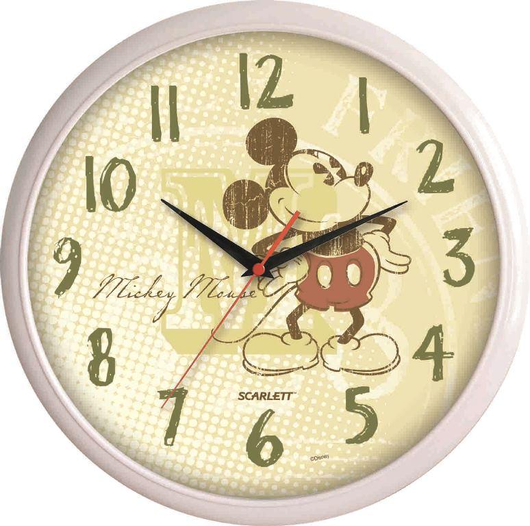Часы настенные Scarlett, диаметр 29 см. SC - WCD03MSC - WCD03MНастенные кварцевые часы Scarlett, изготовленные из пластика, прекрасно впишутся в интерьер вашего дома. Круглые часы имеют три стрелки: часовую, минутную и секундную, циферблат защищен прозрачным пластиком. Часы работают от 1 батарейки типа АА напряжением 1,5 В (батарейка в комплект не входит). Диаметр часов: 29 см.