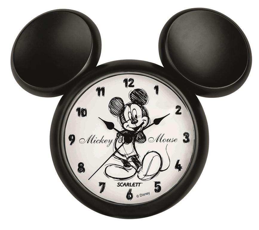 Детские часы Scarlett SC - WCD14MSC - WCD14MНастенные часы Дисней (Микки ретро фигурный), плавный ход