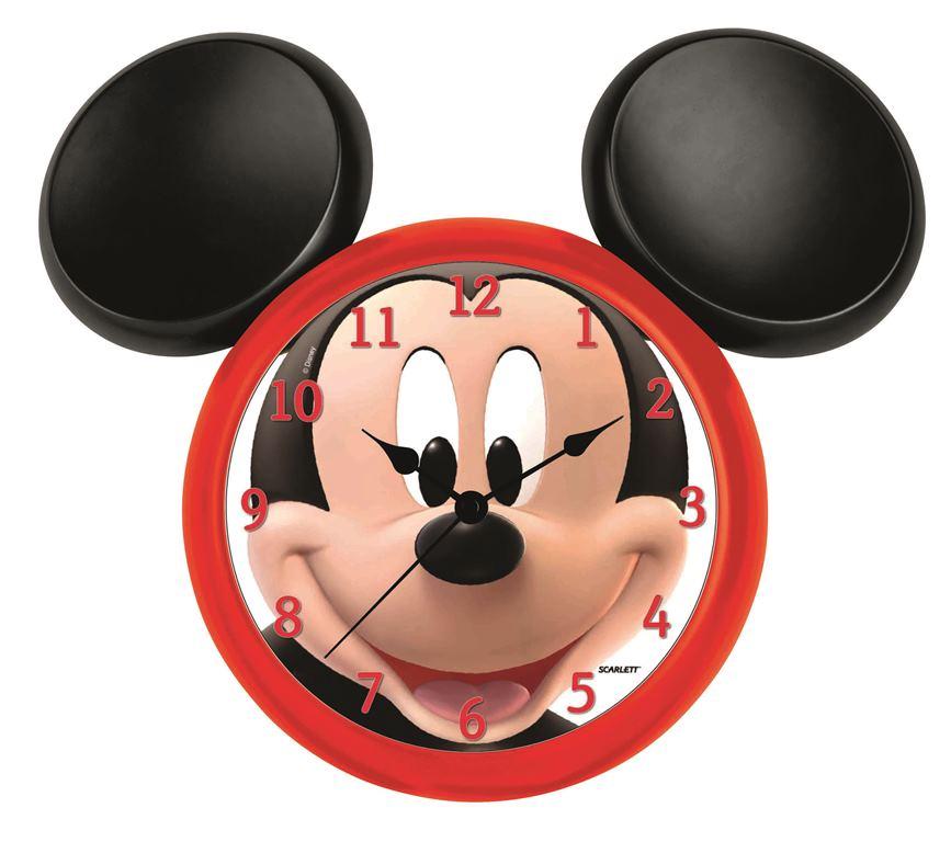 Детские часы Scarlett SC - WCD13MSC - WCD13MНастенные часы Дисней (Микки фигурный), плавный ход