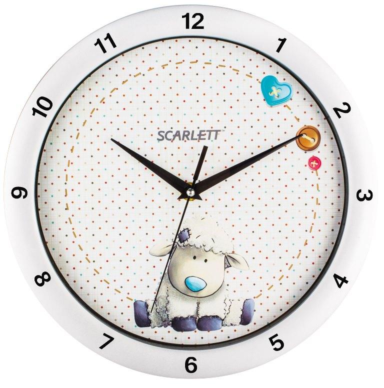 Интерьерные часы Scarlett SC - WC1005I, сереброSC - WC1005IНастенные часы, плавный ход, цвет-серебро (серебро)