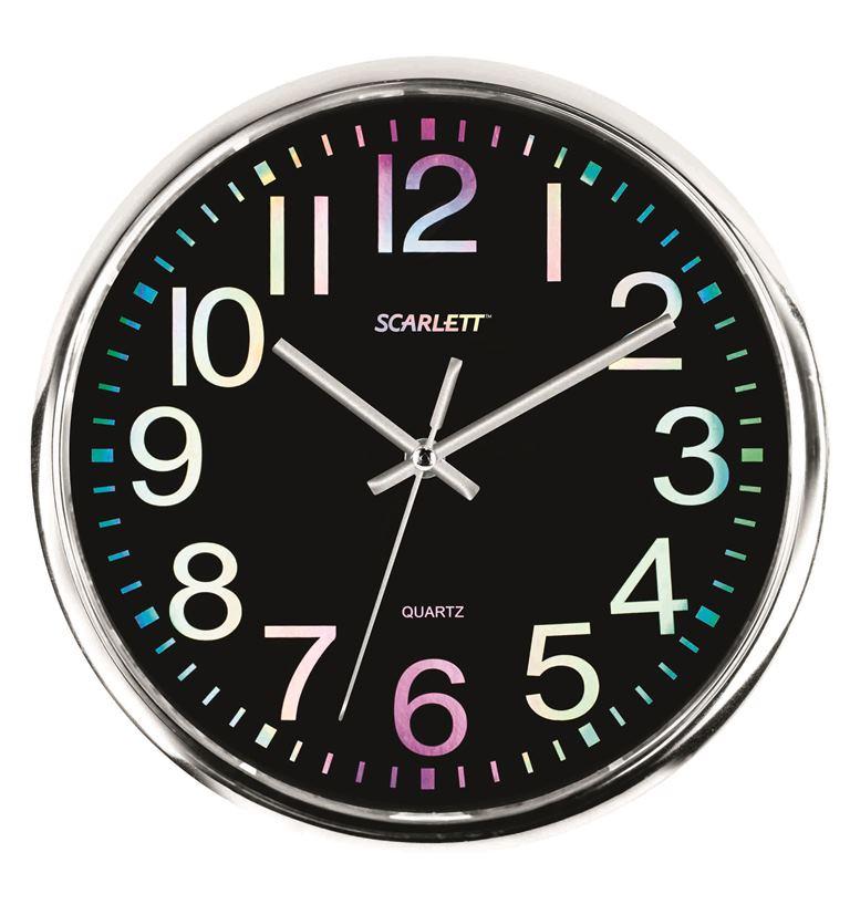 Офисные часы Scarlett SC - WC1010OSC - WC1010OНастенные часы, плавный ход, круглые, d 31 см