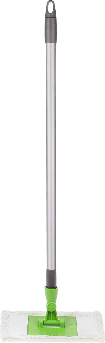 Швабра Мир чистоты Мини, цвет: салатовый, длина 80 смEK017Швабра Мир чистоты Мини с насадкой из микрофибры широко используется для сухой и влажной уборки любых напольных поверхностей. Благодаря уникальным свойствам микрофибры сухая насадка легко удаляет пыль и в три раза лучше впитывает влагу, чем обычный хлопок. Швабра Мир чистоты Мини - лучший помощник в доме! Длина швабры: 80 см. Размер насадки: 23 х 11,5 х 1 см.