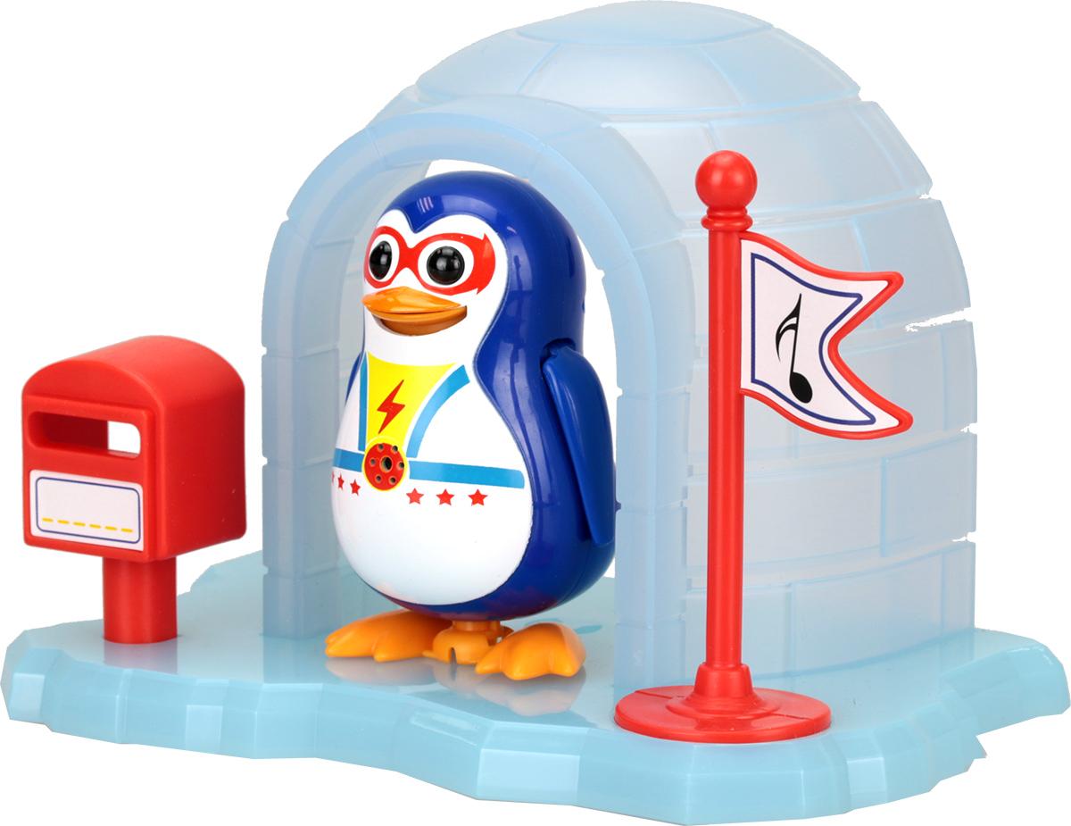 DigiFriends Интерактивная игрушка Пингвин с домиком цвет бирюзовый88343Игра возможна в 2 режимах: - Соло - Хор (синхронизируется с любыми персонажами DigiFriends) Пингвин издает забавные звуки, а также может крутиться, вертеться и качаются (1 уникальное движение у каждого пингвина) NEW домик из льдины и новые расцветки. 1 пингвин домик 1 Свисток-кольцо 3 X LR44 Батарейки в комплекте Размер: 6,5*10*15 см