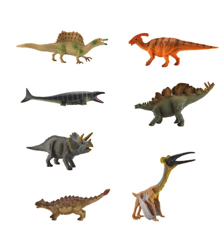 Collecta Набор фигурок Мини динозавры Коллекция 1A1133Коллекция динозавров из 7 шт в каждой упаковке. Высокая детализация и точность каждой фигурки. Размер пластикового кейса 27 х 5,5 х 4 см. Длина каждого динозавра от 6 до 12 см.
