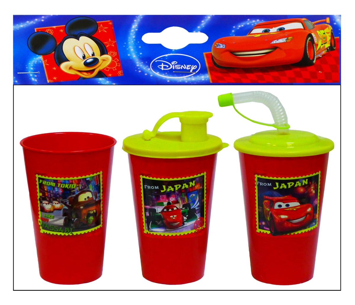 Disney Набор бокалов Тачки цвет красныйNS630CAR5Произведено по лицензии Walt Disney.