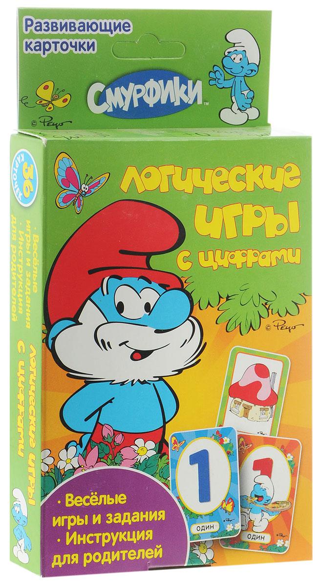 The Smurfs Обучающие карточки Логические игры с цифрами18945Игровой набор для детей Логические игры с цифрами - это 36 ярких карточек с весёлыми играми и обучающими заданиями. Вместе с героями любимых мультфильмов ваш ребёнок будет развивать логическое мышление, тренировать внимание, учиться находить сходства и различия. Обучение в форме увлекательной игры наилучшим образом подходит детям старше трех лет. В набор входит 36 ярких карточек с играми, заданиями и руководством для родителей.