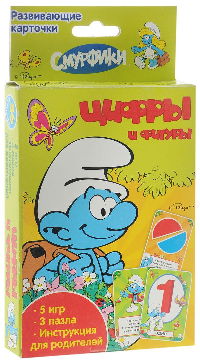 The Smurfs Обучающие карточки Цифры и фигуры18944Игровой набор для детей Цифры и фигуры - это обучающие карточки с весёлыми играми и интересными заданиями. С помощью карточек происходит изучение в игровой форме цифр, основ счёта и геометрических фигур, развитие логического и образного мышления. 36 ярких карточек с персонажами любимого мультфильма - это множество веселых игр и полезных упражнений для вашего малыша. Обучение в форме увлекательной игры наилучшим образом подходит детям старше трех лет. В набор входит 36 ярких карточек с играми, заданиями и руководством для родителей.