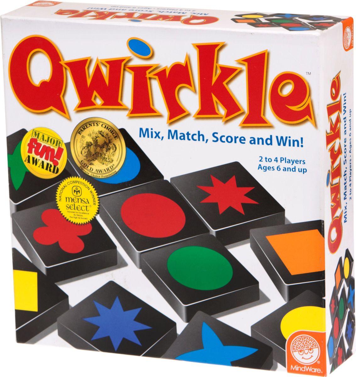 MindWare Настольная игра Qwirkle32016Ну-ка фишки, стройтесь в ряд! Разнообразие фигур — как в шахматах; двойная система подобий — как в картах; необходимость выстроить ряд, не дав сделать это соперникам — как в классической фишечной игре. Что это такое? Как оно стало лучшей игрой 2011 года в Германии? И почему удалось продать уже больше 300 тысяч коробок с этой игрой? Это Квёркл, и сейчас — ваш ход! А это значит, что вы должны положить одну из 108 фигурок так, чтобы она стала частью линии, одинаковой по цвету (их в игре шесть) или по форме (которых столько же). Можно не одну, можно больше — главное, чтобы продолжались указанные ряды, а у вашего соперника не было шанса следующим ходом догнать их до заветной шестерки. Ведь тогда бонусные очки, то есть, квёрклы, достанутся не вам, а ему. Начинает сильнейший Для начала подготовьте ручку и бумажку для записи очков, спокойно сядьте, сосредоточьтесь и раздайте фишки. Каждому игроку первоначально достается по 6 фишек, неизвестных его противникам. Начинает игру тот, у кого...