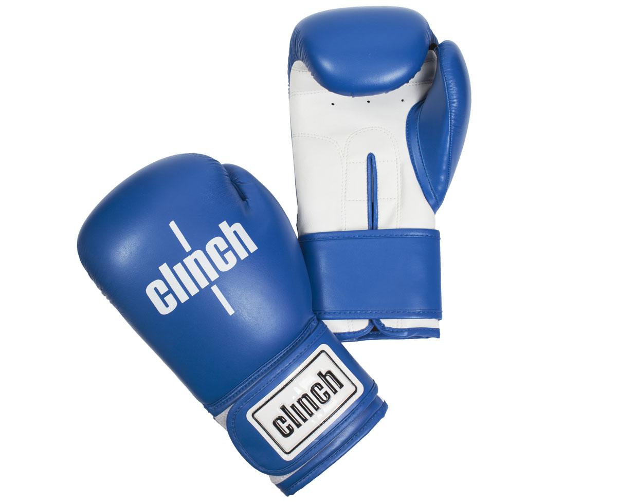 Перчатки боксерские Clinch Fight, цвет: сине-белый, 12 унций. C133C133Боксерские перчатки Fight. Изготовлены эластичного полиуретана Flex PU. Многослойный пенный наполнитель. Широкая манжета из искусственной кожи на липучке велкро.
