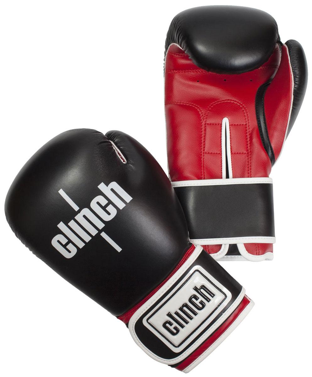 Перчатки боксерские Clinch Fight, цвет: черно-красный, 14 унций. C133C133Боксерские перчатки Fight. Изготовлены эластичного полиуретана Flex PU. Многослойный пенный наполнитель. Широкая манжета из искусственной кожи на липучке велкро.