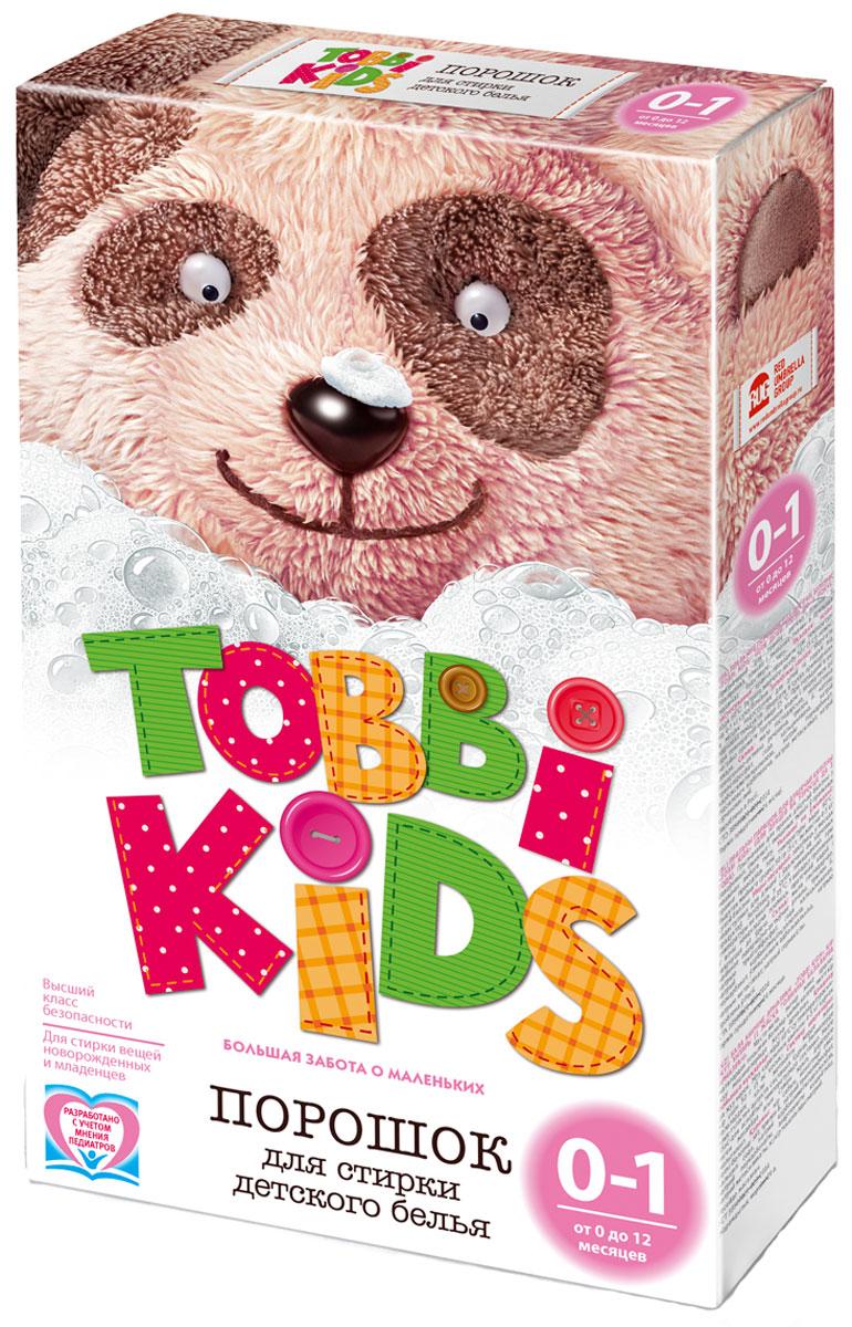 Tobbi Kids Стиральный порошок для детского белья от 0 до 12 месяцев 400 г891721Стиральный порошок для детского белья Tobbi Kids изготовлен из натурального мыла, отлично справляющегося со следами от пюре и соков. Дети в возрасте от 0 до 12 месяцев имеют pH кожи, отличный от pH кожи детей старше года и взрослых, и их иммунная система особенно уязвима, именно поэтому малыши весьма чувствительны к аллергенам и активным веществам в составе стирального порошка. В этот период важно выбирать самые безопасные средства, ведь малышам не подходят взрослые порошки. Формула Tobbi Kids разработана с учетом рекомендаций педиатров, ее pH соответствует pH кожи ребенку до года, а безопасные активные компоненты отлично отстирывают все загрязнения и ухаживают за вещами малыша. Предназначен для стирки детского белья из хлопчатобумажных, льняных и смешанных тканей в стиральных машинах любого типа. Допускается применение для ручной стирки. Состав: мыло хозяйственное, неионогенное поверхностно-активное вещество, натрия перкарбонат, натрий...
