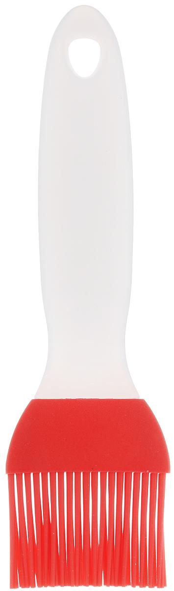 Кисточка кулинарная Elan Gallery, цвет: красный, прозрачный, длина 20 см590017Кисточка кулинарная Elan Gallery изготовлена из высококачественного пищевого силикона, который способен выдержать высокие температуры. Ручка выполнена из пластика и оснащена отверстием, за которое вы сможете подвесить изделие в любое удобное для вас место. Кисточка не царапает поверхность. Щетина не склеивается и не оставляет волосков. Высокая теплоустойчивость силикона позволяет кисточке соприкасаться с нагретыми до высоких температур поверхностями. С помощью такого аксессуара вы сможете равномерно смазать противень или сковороду маслом, нанести глазурь или масло на выпечку. Кулинарная кисточка Elan Gallery станет прекрасным дополнением к коллекции ваших кухонных аксессуаров. Длина кисточки: 20 см. Длина ворсинок: 4 см.