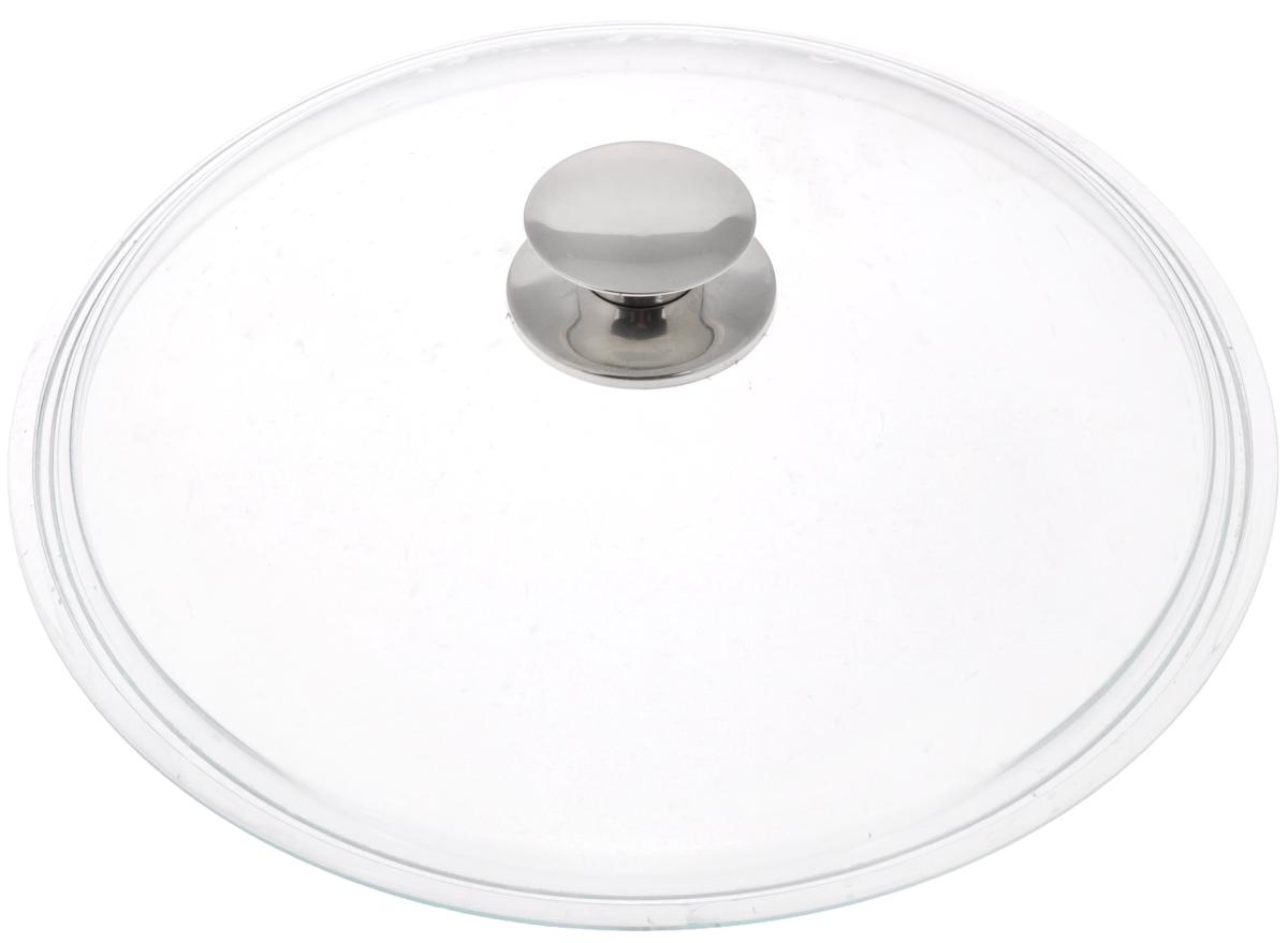 """Крышка """"Виктория"""", цвет: прозрачный, стальной, диаметр 26 см"""