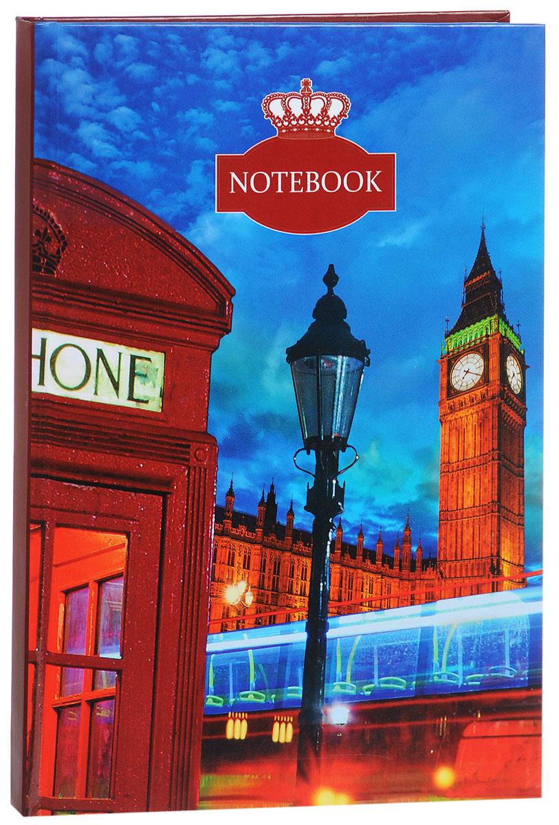 Listoff Записная книжка Вечерний Лондон 100 листов в клетку