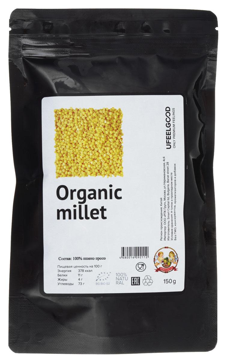 UFEELGOOD Organic Millet органическое пшено просо, 150 г35Просо - это древние семена (часто описывается как зерно), которые могут быть приготовлены совершенно просто и аналогично таким зернам как лебеда, коричневый рис, овсянка и маш. Обычно встречаются в африканской и Северо-азиатской кухни, это зерно в последнее время становится довольно популярным в мире, потому что это продукт без глютена и легко усваивается. Оценен данный продукт как хороший источник некоторых очень важных питательных веществ, в том числе меди, марганца, фосфора и магния.