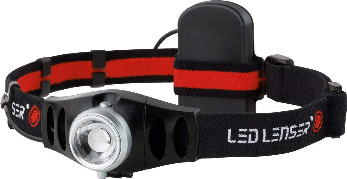 Налобный фонарь LED Lenser H5. 74957495Налобный фонарь LED Lenser H5 предназначен для локального освещения предметов. Он чрезвычайно высокопроизводителен, удобен и крепок. Корпус фонаря выполнен из прочного алюминиевого сплава, имеет высокую степень пылебрызгозащиты, не восприимчив к транспортной вибрации. Фонарь удобно надевать благодаря регулируемому и эластичному головному ремню, который обеспечивает стабильность положения и освобождает руки и имеет 4 рабочих положения наклона осветительной головки. Может использоваться на природе, как источник света, идеален для туристов, рыбаков, велосипедистов, автомобилистов, а также для дачников и любителей прогулок на природе. Фонарь имеет позолоченные контакты, благодаря чему они не окислятся даже в морском соляном тумане при высоких температурах. Также фонарь оснащен системой AFS (изменяемая фокусировка одним движением руки), благодаря которой Вы сможете освещать предметы, как на большом расстоянии, так и вблизи. Светодиоды имеют ресурс более 100 000 часов непрерывной...