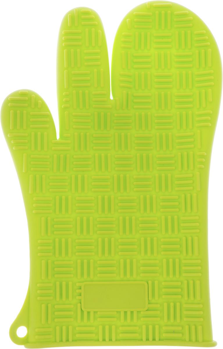 Прихватка-перчатка Mayer & Boch, силиконовая, цвет: салатовый, 27 см х 17 см21941_салатовыйПрихватка-перчатка Mayer & Boch изготовлена из прочного цветного силикона. Она способна выдерживать температуру от -40°C до +220°С. Эластична, износостойка, влагонепроницаема, легко моется, удобно и прочно сидит на руке. С помощью такой прихватки ваши руки будут защищены от ожогов, когда вы будете ставить в печь или доставать из нее выпечку. Можно мыть в посудомоечной машине.