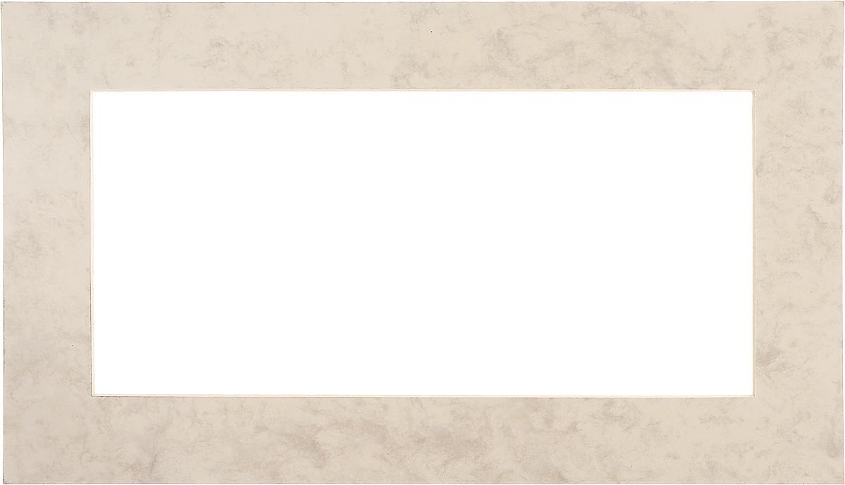Паспарту Василиса, цвет: светло-бежевый, мраморный, 22 х 38 см581089Паспарту Василиса, изготовленное из плотного картона, предназначено для оформления художественных работ и фотографий. Оно располагается между багетной рамой и изображением, делая акцент на фотографии, усиливая ее визуальное восприятие. Кроме того, на паспарту часто располагают поясняющие подписи, автограф изображенного. Внешний размер: 22 х 38 см. Внутренний размер: 14 х 30 см.
