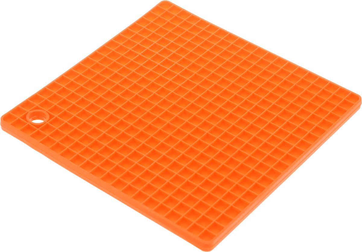 Подставка под горячее Mayer & Boch, силиконовая, цвет: оранжевый, 17,6 х 17,6 см21991_оранжевыйПодставка под горячее Mayer & Boch изготовлена из силикона и оснащена специальным отверстием для подвешивания. Материал позволяет выдерживать высокие температуры и не скользит по поверхности стола. Каждая хозяйка знает, что подставка под горячее - это незаменимый и очень полезный аксессуар на каждой кухне. Ваш стол будет не только украшен яркой и оригинальной подставкой, но и сбережен от воздействия высоких температур.