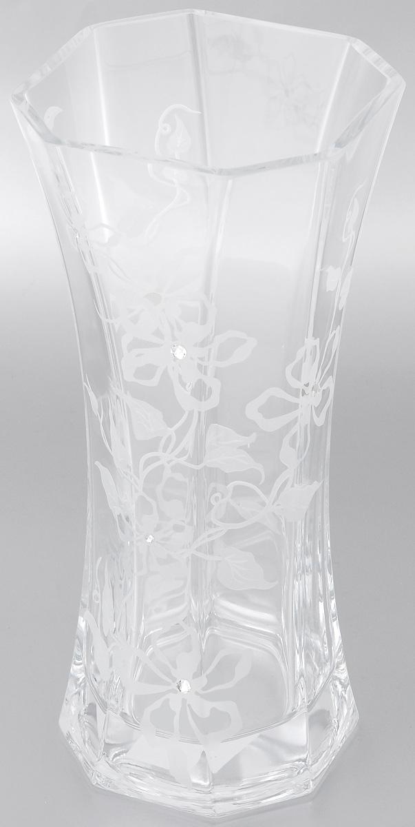 Ваза Deco Glass Андромеда, высота 30 смD04416/0300/E529ALВаза Deco Glass Андромеда, выполненная из прозрачного стекла, оформлена гравировкой в виде цветов и декорирована изящными кристаллами. Вазу можно использовать как декоративный элемент, поставить в нее букет прекрасных цветов или декоративных веточек. Изящная ваза Deco Glass Андромеда станет великолепным подарком на любой праздник.
