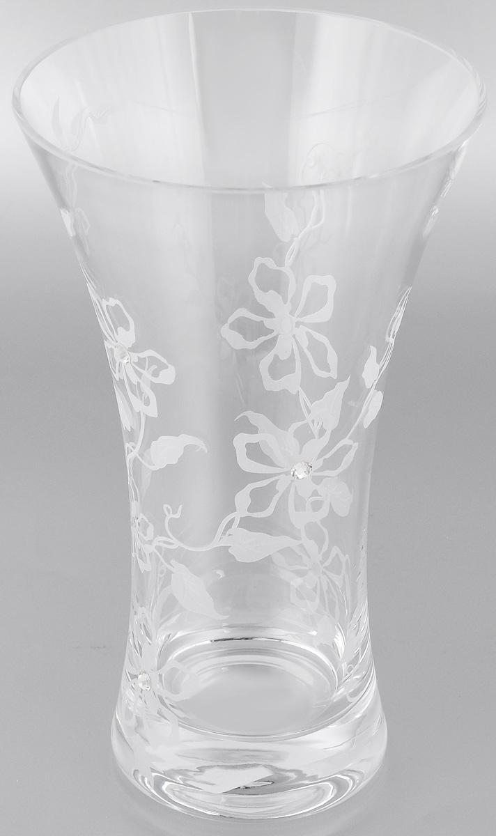 Ваза Deco Glass Андромеда, высота 25 смD04084/0250/E529ALВаза Deco Glass Андромеда, выполненная из прозрачного стекла, оформлена гравировкой в виде цветов и декорирована изящными кристаллами. Вазу можно использовать как декоративный элемент, поставить в нее букет прекрасных цветов или декоративных веточек. Изящная ваза Deco Glass Андромеда станет великолепным подарком на любой праздник.