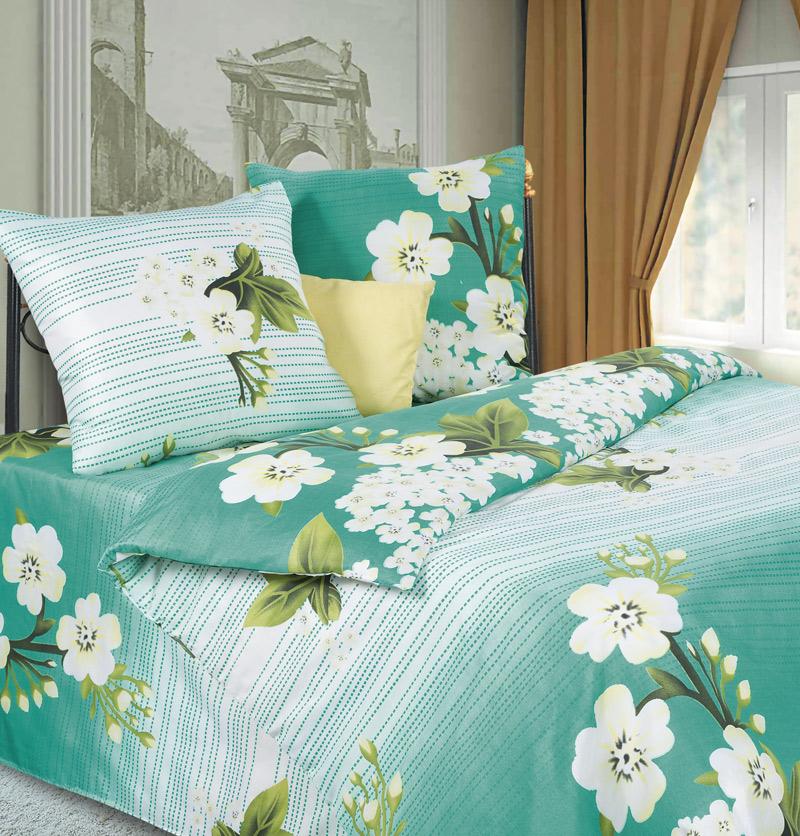 Комплект белья P&W Яблоневый Цвет, 2-спальный, микрофибра, наволочки 70 x 70 смPW-61-173-175-69