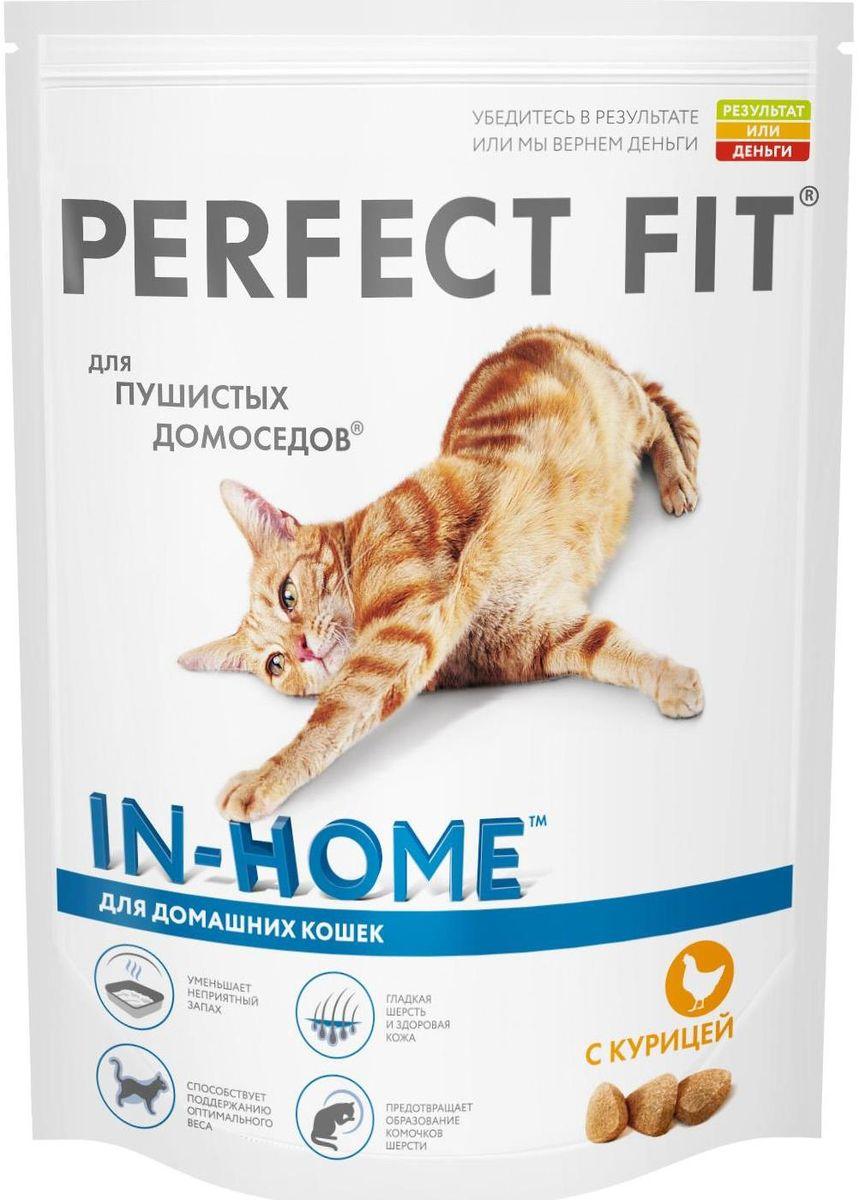 Корм сухой Perfect Fit In-Home для домашних кошек, с курицей, 190 г10187Сухой корм Perfect Fit In-Home создан специально для поддержания жизненного тонуса и хорошего самочувствия домашних лежебок. Особенности сухого корма Perfect Fit: - содержит натуральную клетчатку, помогающую контролировать образование комочков шерсти в организме кошки; - специальная рецептура позволяет снизить потребление калорий в каждом кормлении; - способствует поддержанию здоровой кожи и блестящей шерсти благодаря содержанию биотина, цинка и омега-6 кислот; - содержит экстракт Юкки Шидигера, помогающий уменьшить запах кошачьего туалета; - не содержит ароматизаторов, красителей и консервантов. Состав: высушенная мука из птицы (включая 22% курицы), кукурузный белок, высушенный животный белок, кукуруза, кукурузная мука, животный жир, рис, целлюлоза, высушенная печень, сухая свекла, дрожжи, хлорид калия, рыбий жир, экстракт юкки. Пищевая ценность в 100 г: белки - 41 г, жиры - 14,5 г, зола - 8 г, клетчатка -...