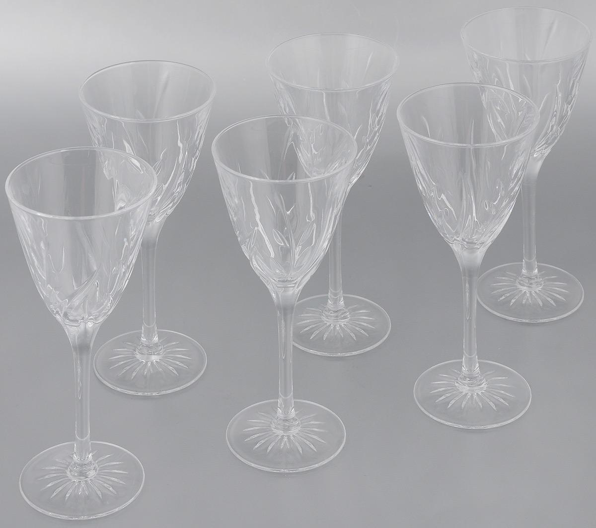 Набор фужеров Cristal dArques Cassandra, 170 мл, 6 штG5633Набор Cristal dArques Cassandra состоит из 6 фужеров, выполненных из специально разработанного стекла Diamax. Изделия оснащены длинными изящными ножками и предназначены для различных напитков. Такой набор прекрасно дополнит праздничный стол и станет желанным подарком в любом доме. Диаметр фужера (по верхнему краю): 7,8 см. Высота фужера: 19 см. Диаметр основания фужера: 6,5 см.