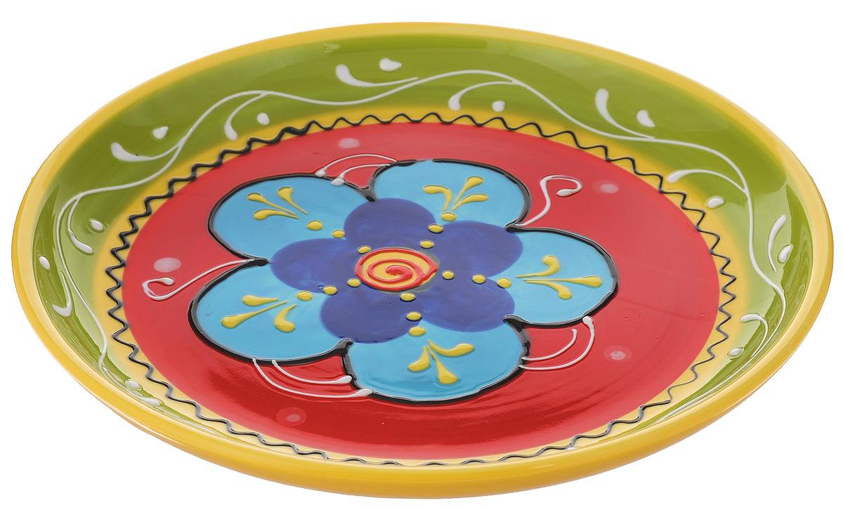 Блюдо Elan Gallery Цветочное настроение, диаметр 20,5 см450069Блюдо Elan Gallery Цветочное настроение, изготовленное из керамики, прекрасно подойдет для подачи нарезок, закусок и других блюд. Такое блюдо украсит сервировку вашего стола и подчеркнет прекрасный вкус хозяйки. Не рекомендуется применять абразивные моющие средства. Не использовать в микроволновой печи. Диаметр блюда (по верхнему краю): 20,5 см. Высота блюда: 3 см.