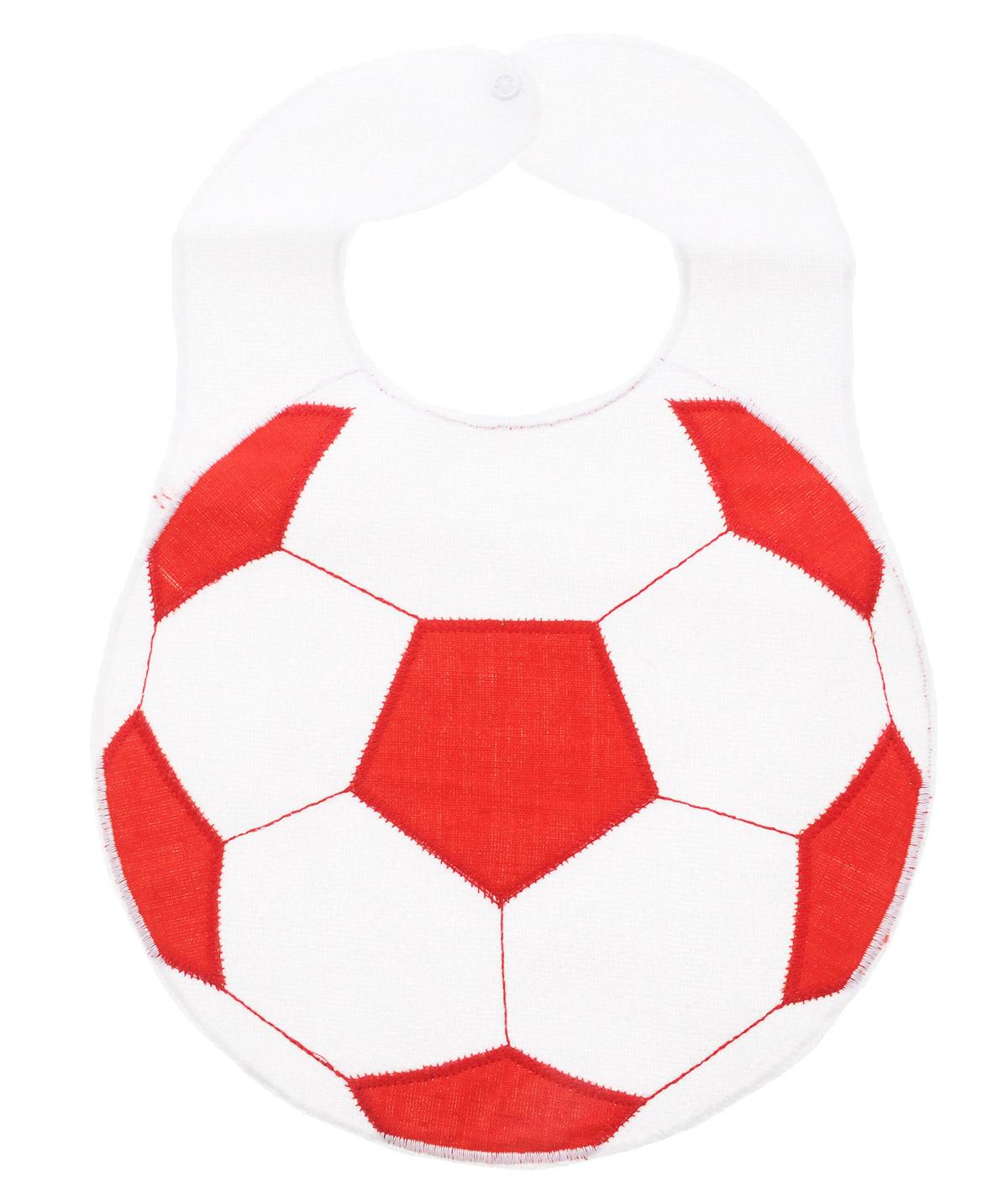 Sevi Baby Нагрудник на кнопке Футбольный мячБ0027811Детский нагрудник на кнопке Sevi Baby Футбольный мяч станет незаменимым помощником маме при кормлении малыша. Нагрудник украшен вышитым изображением футбольного мяча и застегивается на кнопку. Нагрудник защитит одежду вашего крохи от загрязнений.