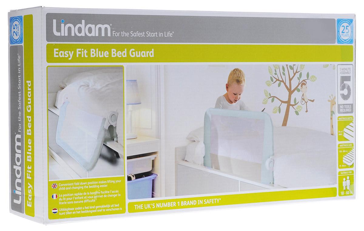Lindam Бортик защитный для кровати на металлическом каркасе цвет голубойН0006363Когда малыш переезжает из колыбели или кроватки с бортами во взрослую кровать, всегда существует вероятность, что ворочаясь во сне, он может упасть. Для того чтобы и вы, и ваш малыш хорошо высыпались, и создан защитный бортик для кровати Lindam. Он не позволит малышу упасть или сбросить одеяло. Таким образом, сложный процесс перехода от сна в детской кроватке к одноместной кровати будет значительно упрощен. Особенности: Безопасный и надежный блокирующий механизм; Удобная функция откидывания - легко взять ребенка с кровати и заменить постельное белье; Простая сборка без инструментов; Подходит для кроватей с шириной матраса 75 -90 см, длиной матраса - 150-200 см и высотой до 26 см; Подходит для кроватей с реечным дном, диванов и т.д.; Не подходит для кроватей, в которых матрас крепится к подъемной части конструкции, а также для вторых ярусов двухъярусных кроватей; Возраст ребенка - от 18 до 60 месяцев.